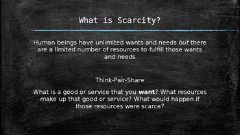 Scarcity vs. Shortage Powerpoint Lesson