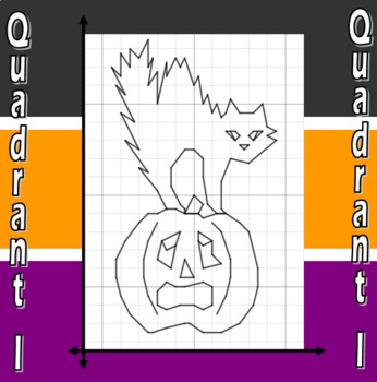 Scare E. Cat and Jack - A Quadrant I Coordinate Graphing Activity