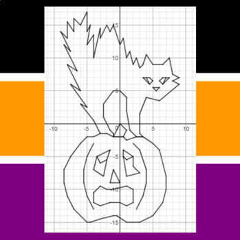 Halloween - Scare E. Cat and Jack - A Coordinate Graphing Activity