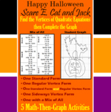 Scare E. Cat and Jack - Finding Vertices - 5 Math-Then-Graph Activities