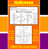 Scare O' Lantern - A Math-Then-Graph Activity - Finding Vertices