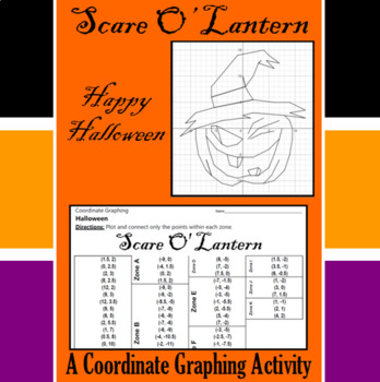 Halloween - Scare O' Lantern - A Coordinate Graphing Activity