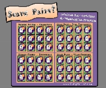 Scare Pairs! Minimal Pair Picture Cards for Phonological Processes