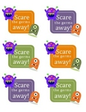 Scare the Germs Away Soap Pump Hand Sanitizer Halloween Gift Tag