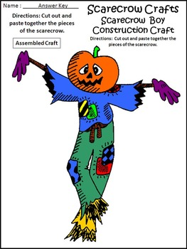 Scarecrow Crafts Activity Packet Bundle