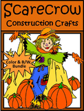 Scarecrow Crafts Activity Packet Bundle - Color&BW