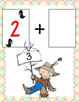Scarecrow Addition Mats - Decomposing Numbers