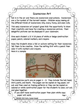 Scarecrow Art & Writing