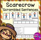 Scarecrow Writing Build a Sentence and Scrambled Sentence Writing