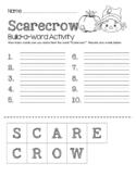 Scarecrow Build-a-Word Activity
