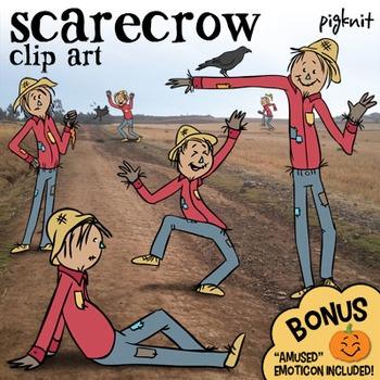 Scarecrow Clip Art, Plus BONUS Pumpkin Emoji! | Fall Harve