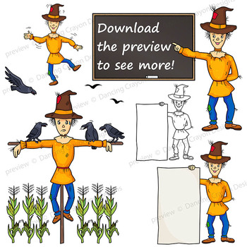 Scarecrow Clip Art | Scarecrow Holding Signs