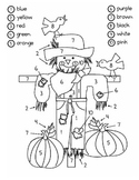 Scarecrow Color By Number {1-10}