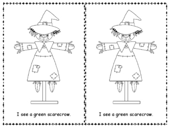 Scarecrow Color Words Emergent Reader