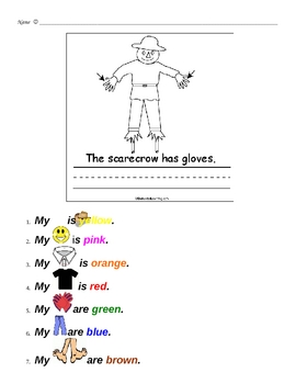 Scarecrow - Color and Follow directions