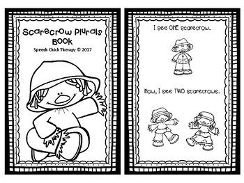 Scarecrow Concept Booklets for Speech Therapy