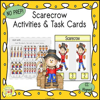 Scarecrow Count and Clip Task Cards