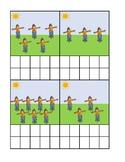 Scarecrow Counting Ten Frame Activity