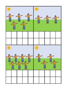 Scarecrow Counting Ten Frame Activity