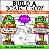 Fall Math Craft   Fall Reading Craft   Bundle   Build a Scarecrow
