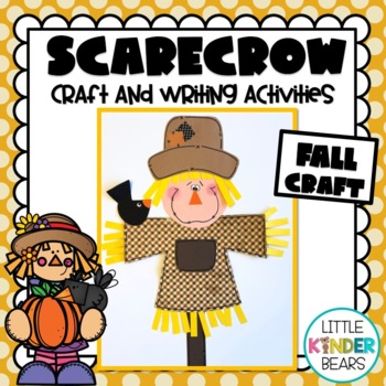 Scarecrow Craft, Class Book & Writing Activity: Fall Crafts: November Crafts