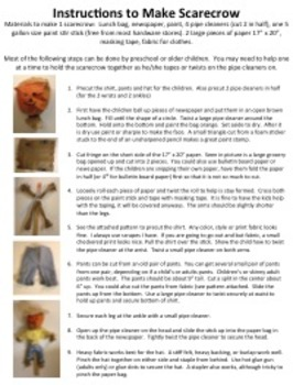 Scarecrow Craft Instructions
