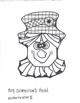 Scarecrow Boy and Girl, Fall Crafts, October Crafts