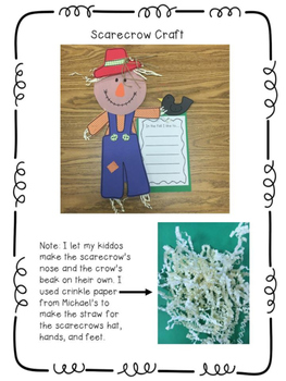 Fall Craft and Writing Activities