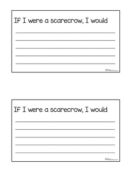 scarecrow craft and writing templates by miss kindergarten love