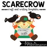 Fall Craft Scarecrow Craft and Writing Templates