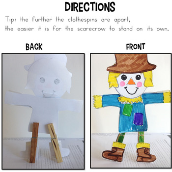 Scarecrow Craft for Thanksgiving