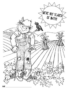 Scarecrow Day - a Day of Common Core Math That's Not Too Scary!