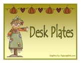 Scarecrow Desk Plates and Nametags