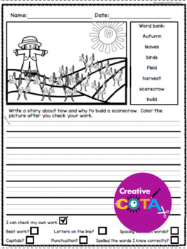 Scarecrow Differentiated Activities and Printables