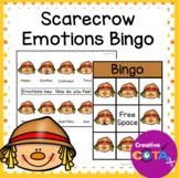Fall Scarecrow Activities Emotions and Feelings Bingo