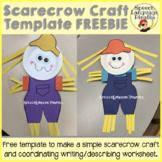 Scarecrow Craft template FREEBIE