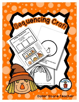 Scarecrow Face - Fall - Harvest - Halloween - Sequencing Reader Mat & Craft Page