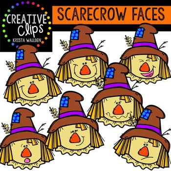 Scarecrow Faces {Creative Clips Digital Clipart}