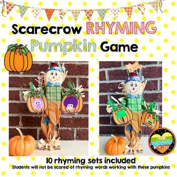 Scarecrow Fall Rhyming Pumpkin Game