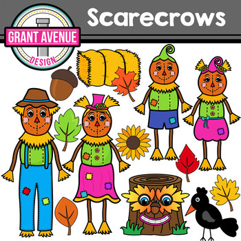 Scarecrow Family Clipart