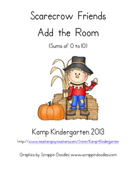 Scarecrow Friends Add the Room (Sums of 0-10)