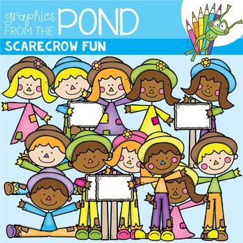 Scarecrow Fun - Fall Clipart Set