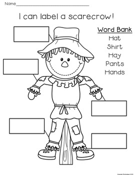 Scarecrows Unit: Literacy Activities to Integrate Scarecrows