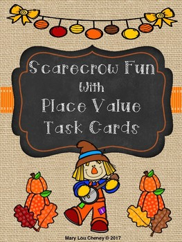 Scarecrow Fun with Place Value Task Cards