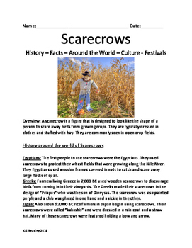 Scarecrow - History Facts Around The World Festivals - Les