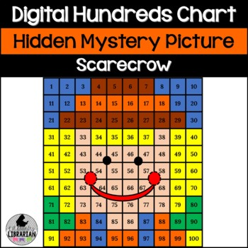 Scarecrow Hundreds Chart Hidden Picture Activity for Fall Math