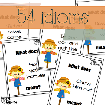 Fall and Thanksgiving idioms