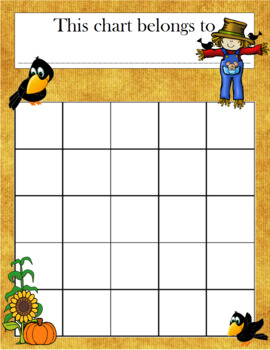 Scarecrow Incentive Chart