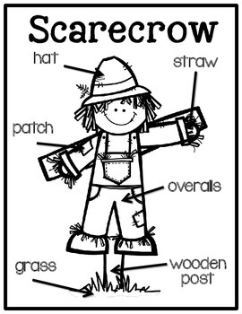 Scarecrow Labeling Posters & Differentiated Labeling Activities FREEBIE