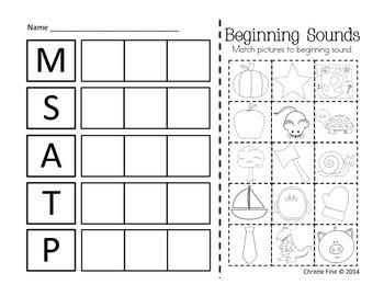 Scarecrow Letter Sound Sort M, S, A, P, T